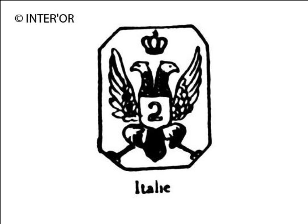 Aigle imperiale couronnee avec n° 2