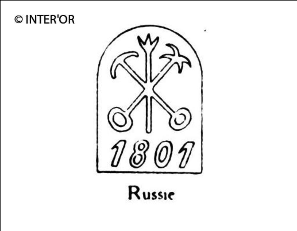 Ancre et hache 1801