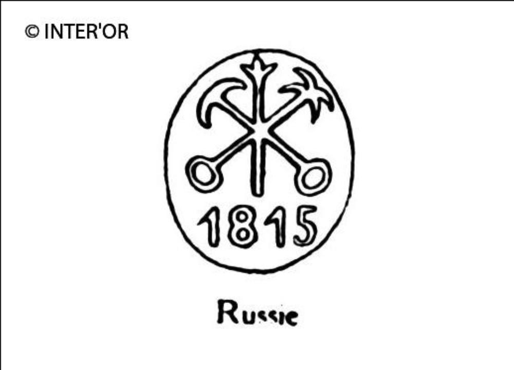Ancre et hache 1815