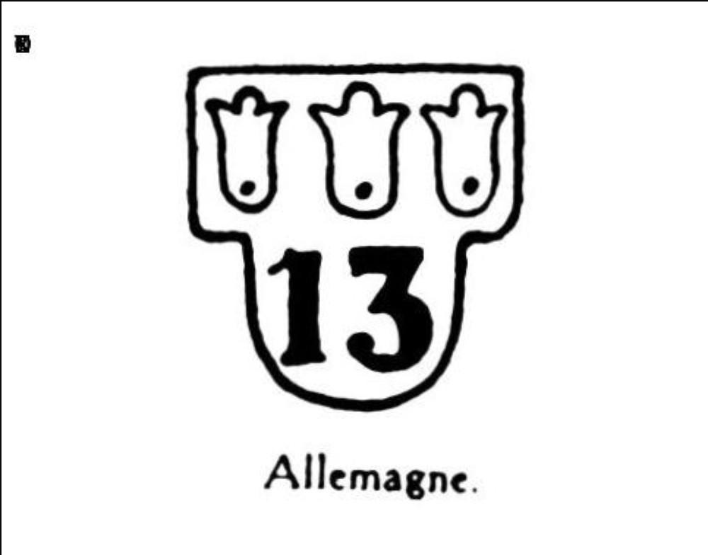 Armoiries nombre 13