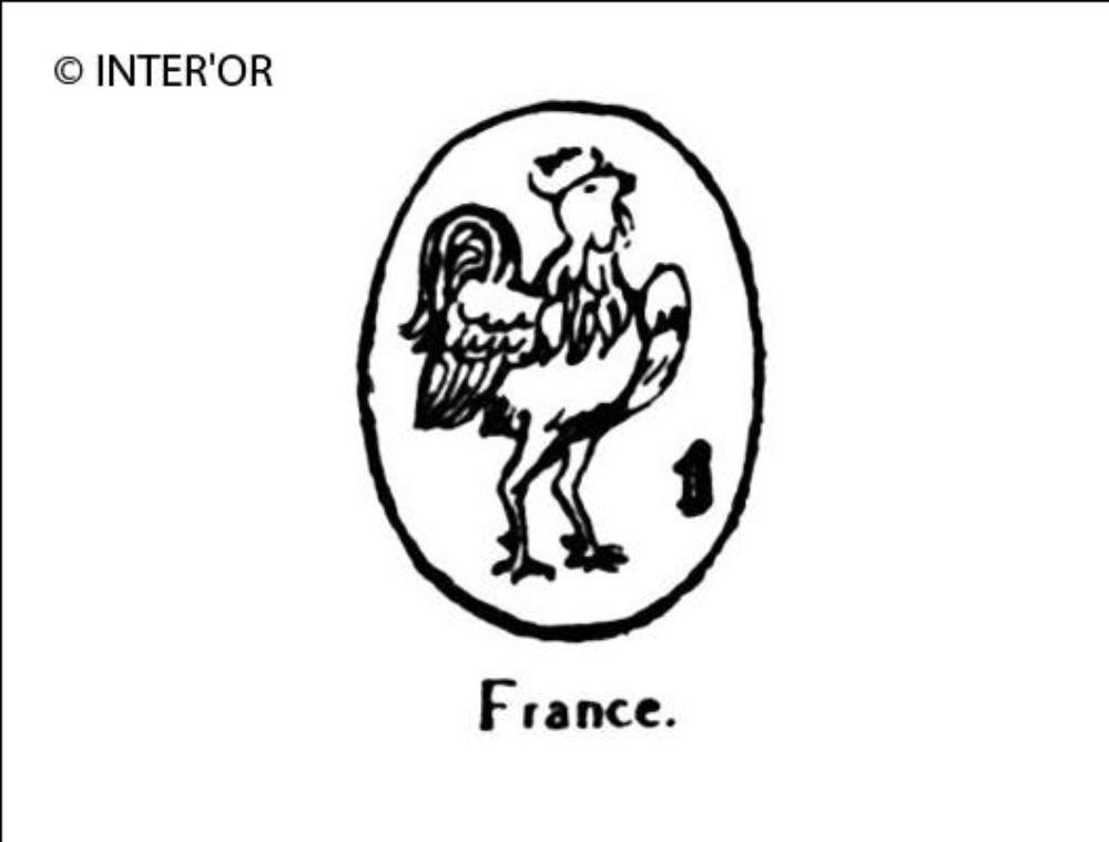 Coq chantant (tête à droite)