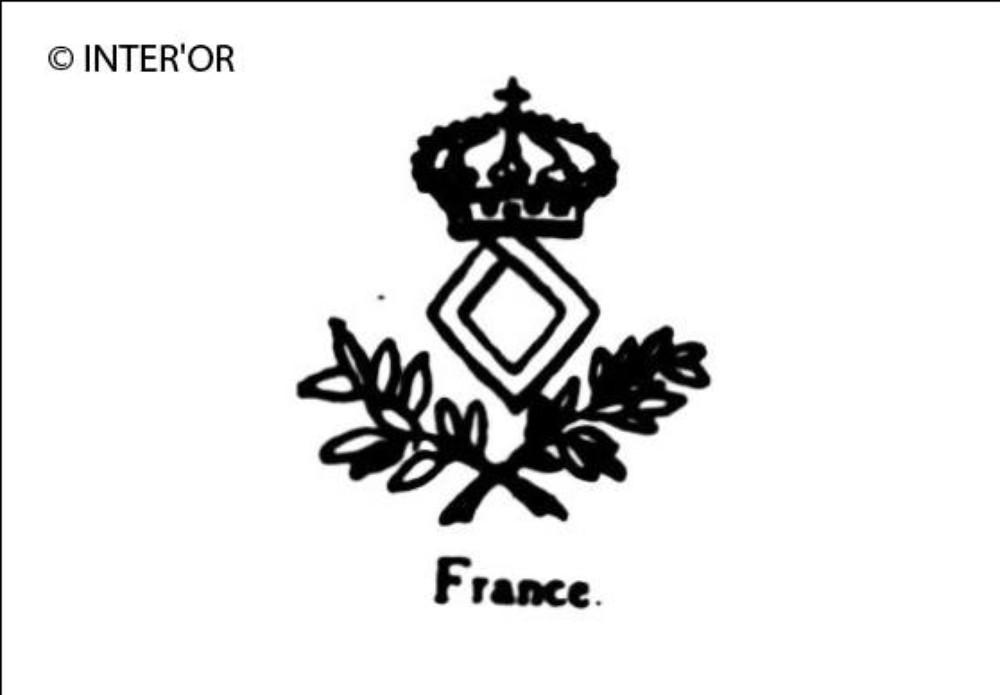 Couronne royale losange et deux branches