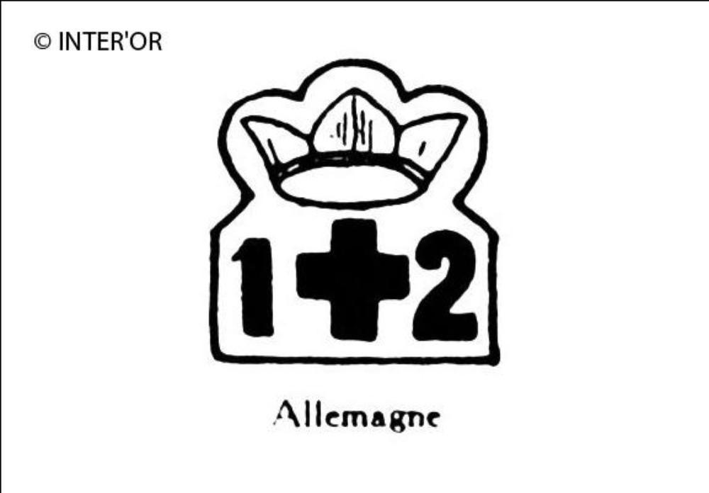 Croix couronnee. — nombre 12