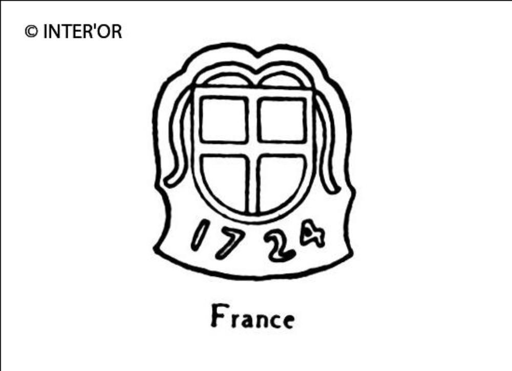 Croix dans armoiries 1724