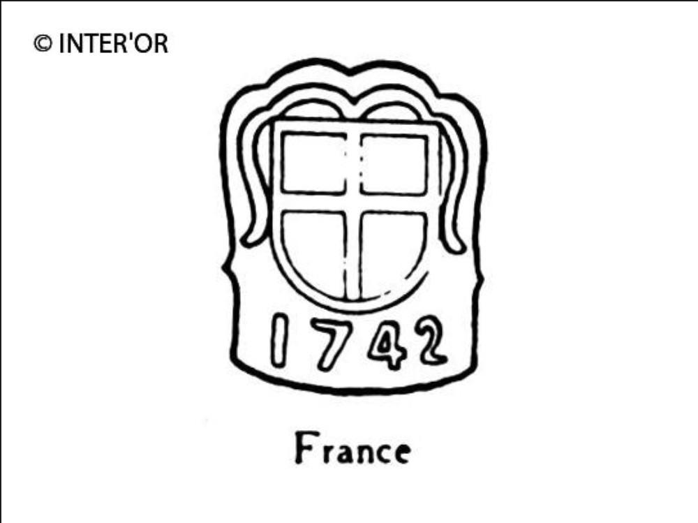 Croix dans armoiries 1742