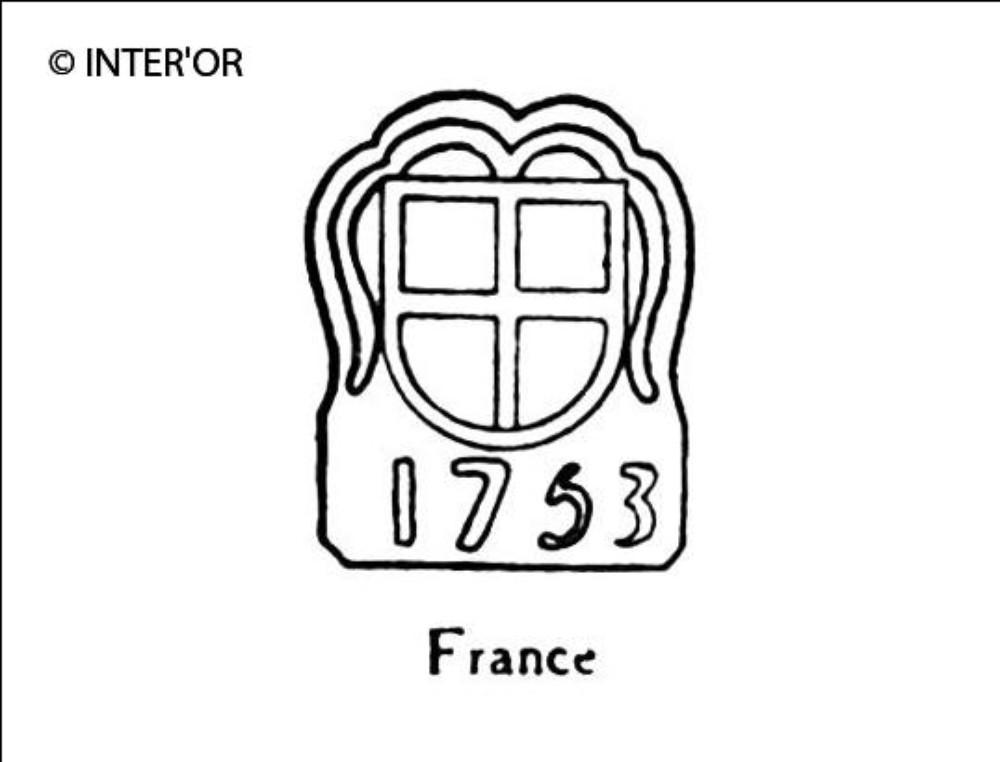 Croix dans armoiries 1753