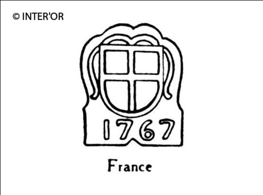 Croix dans armoiries 1767