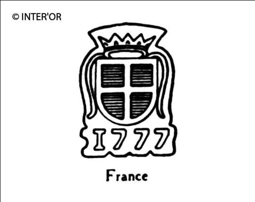 Croix dans armoiries couronnees 1777
