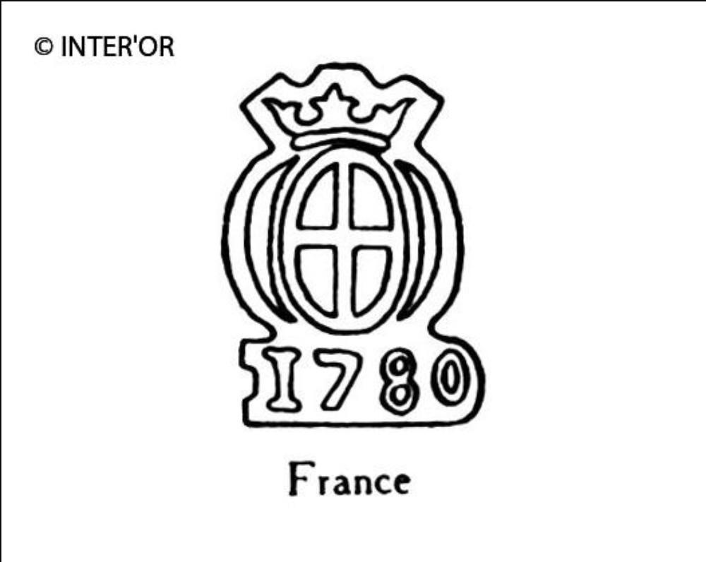 Croix dans armoiries couronnees 1780
