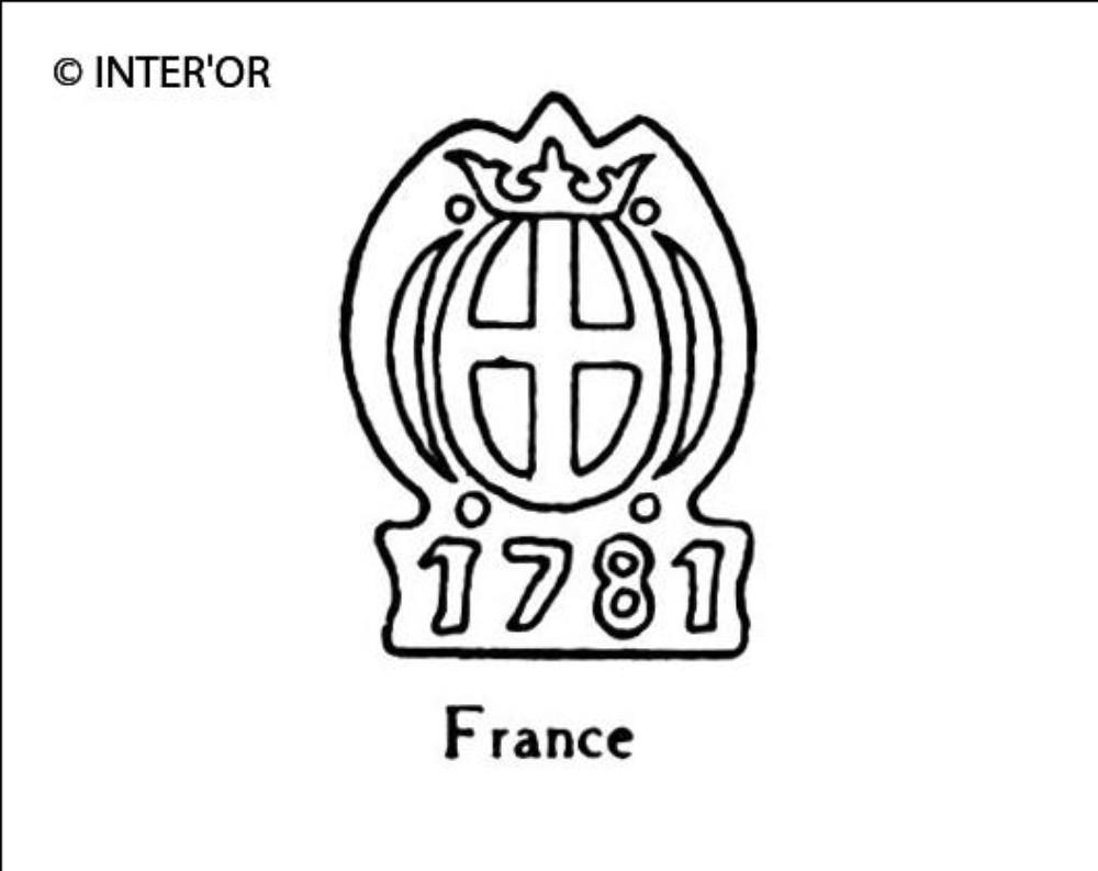 Croix dans armoiries couronnees 1781