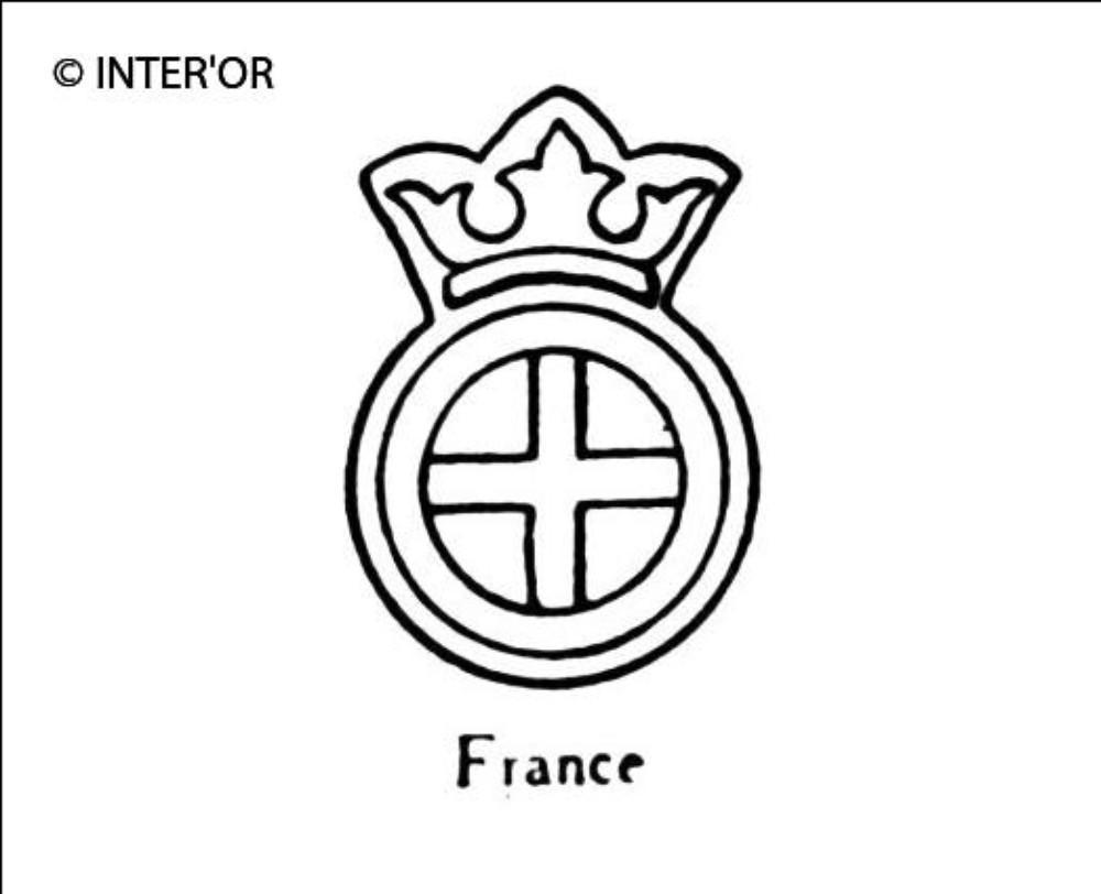 Croix dans un cercle sous couronne