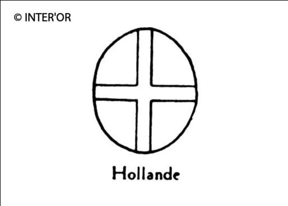 Croix dans un ovale