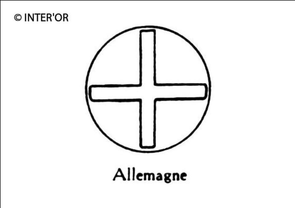 Croix dans une circonference