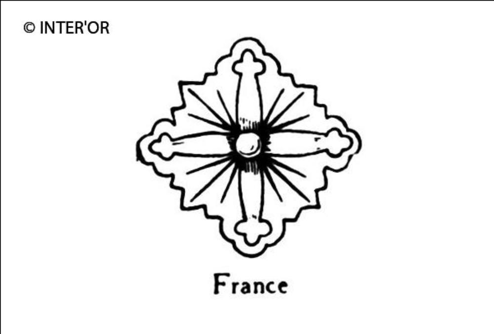 Croix de fleurons rayonnante