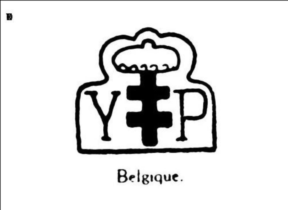Croix de lorraine couronnee. — lettres y. P