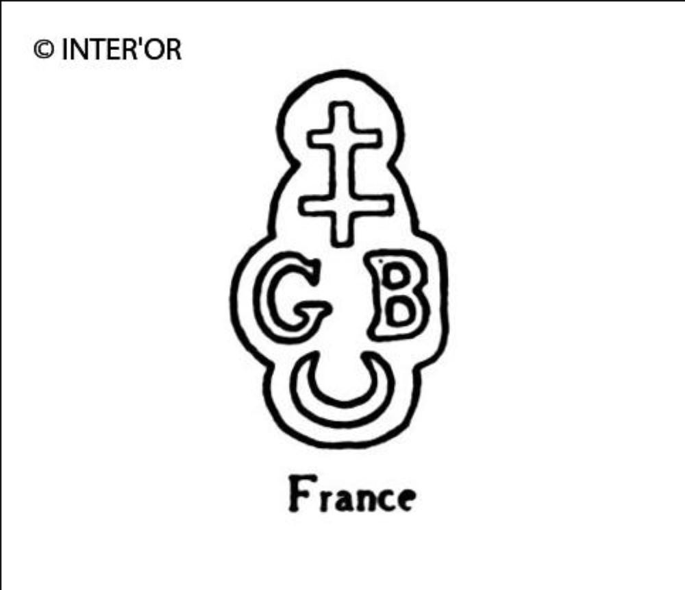Croix de lorraine croissant - g b