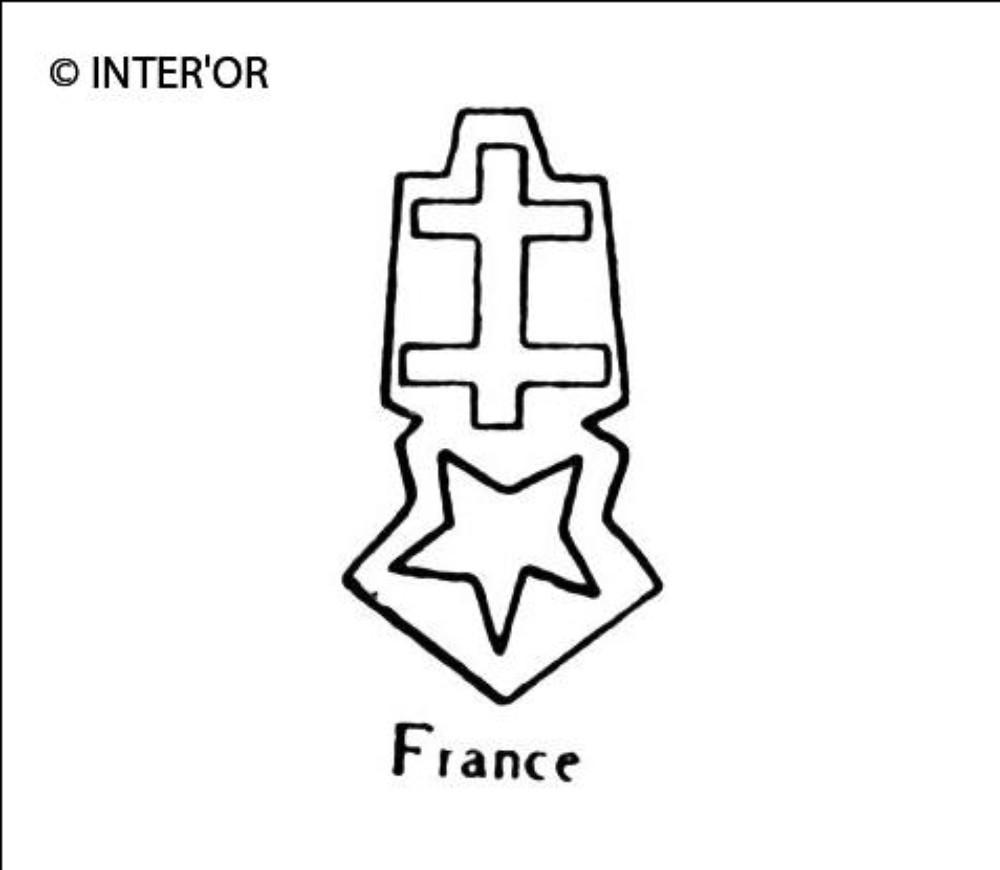 Croix de lorraine sur etoile