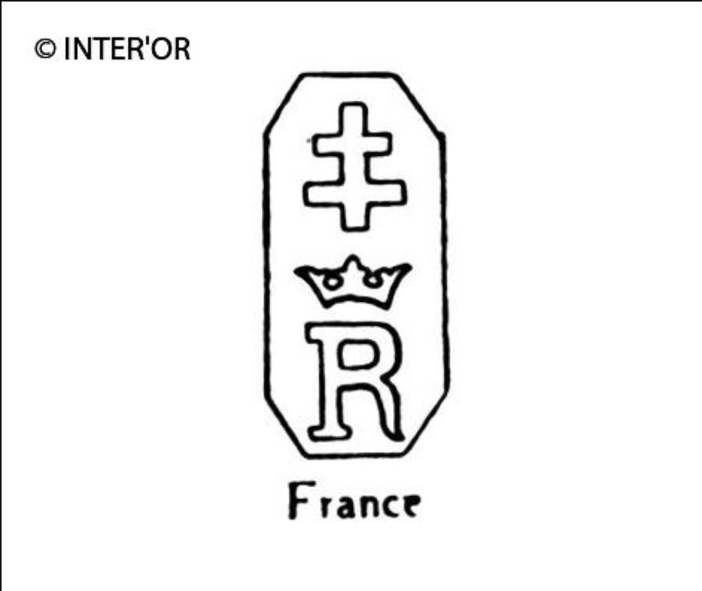 Croix de lorraine sur r couronne