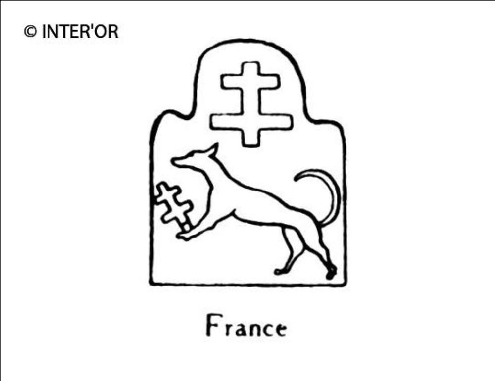 Croix de lorraine sur un levrier