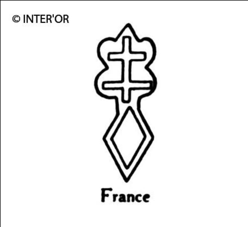 Croix de lorraine sur un losange