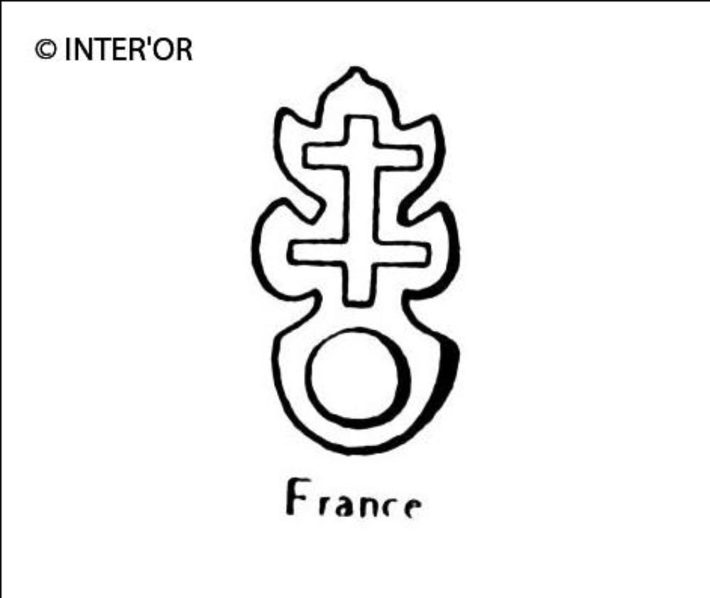 Croix de lorraine sur une circonference
