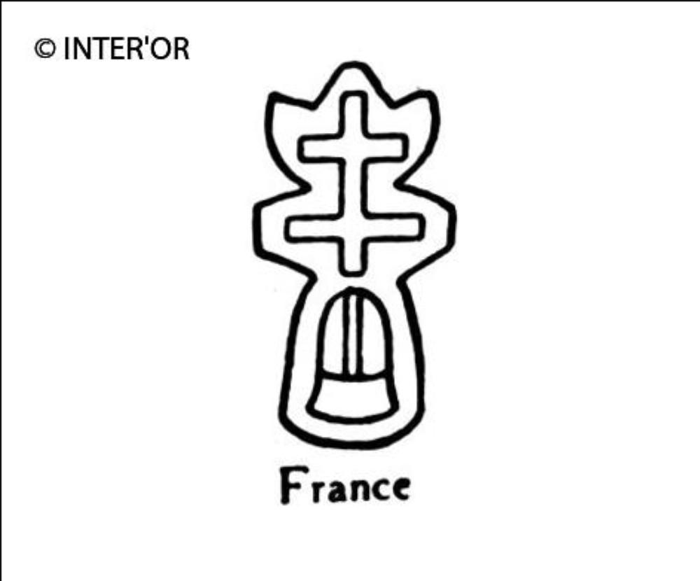Croix de lorraine sur une cloche