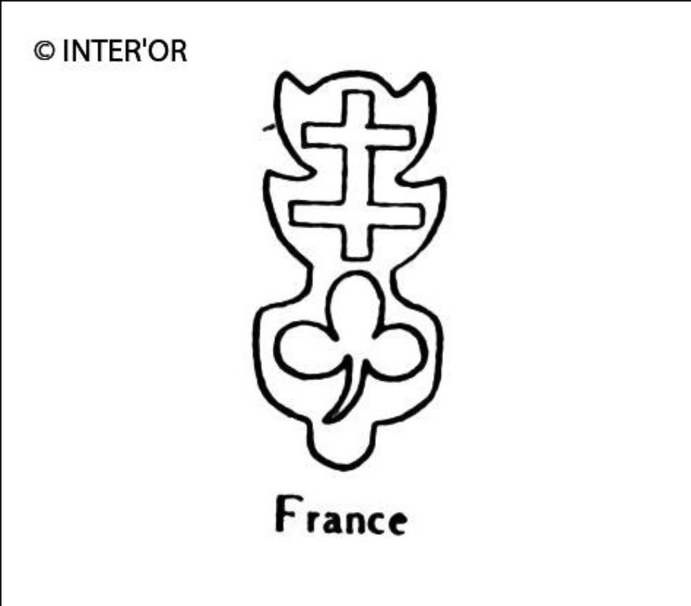 Croix de lorraine sur une feuille