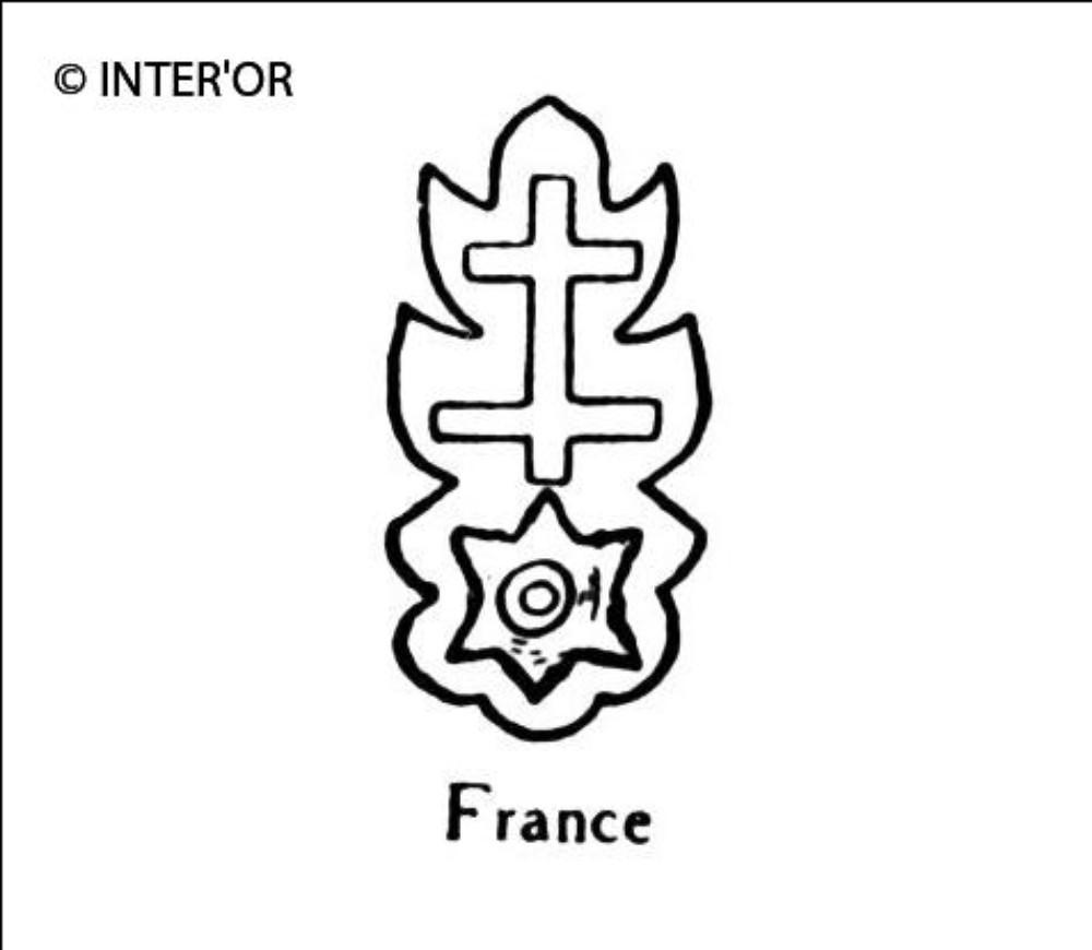 Croix de lorraine sur une molette