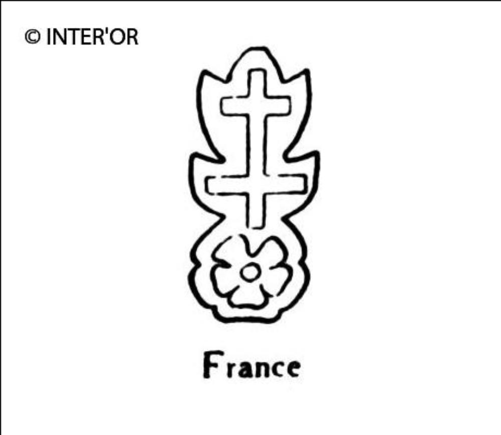 Croix de lorraine sur une rose