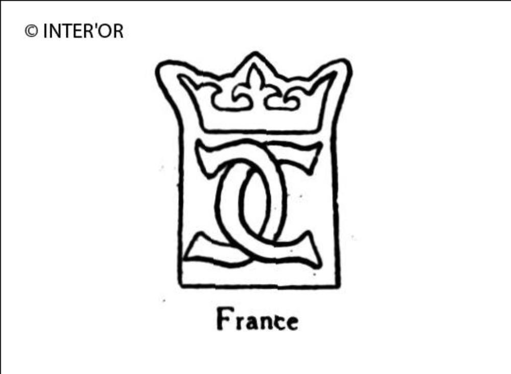 Deux c adosses et entrecroises sous couronne