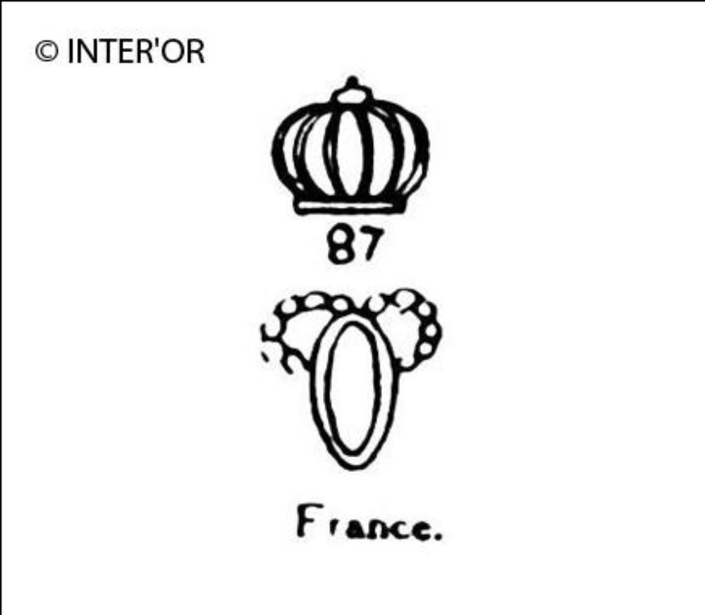 Le haut d'un p couronne avec chiffres 87