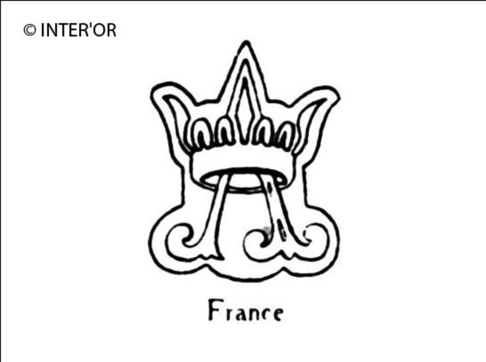Lettre a dans une couronne