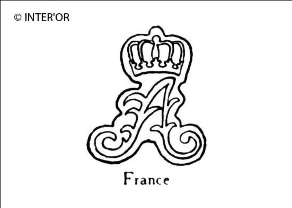 Lettre a fleuronnee et couronnee