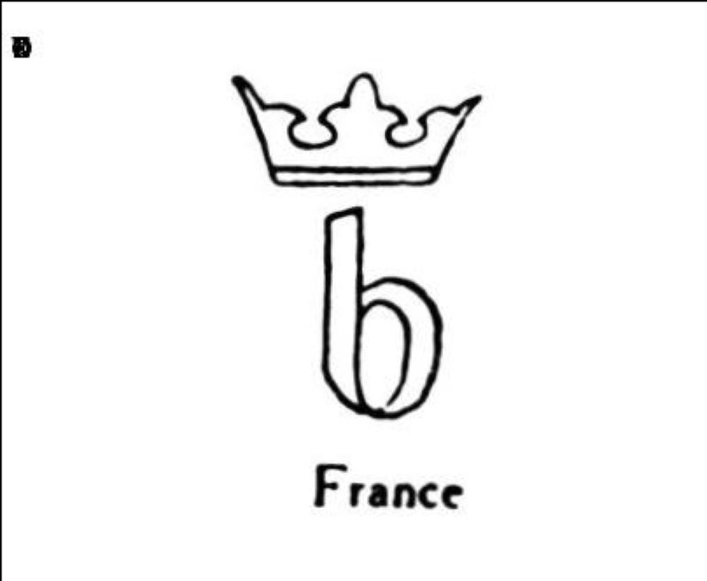Lettre b couronnee