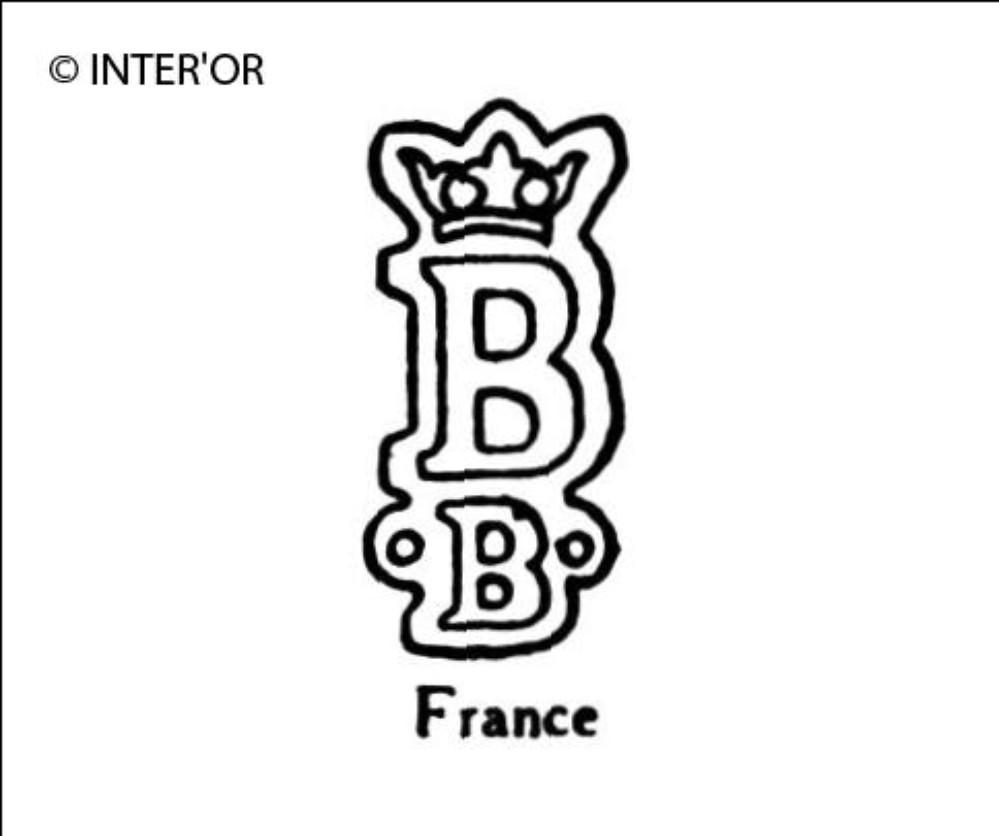 Lettre b couronnee b