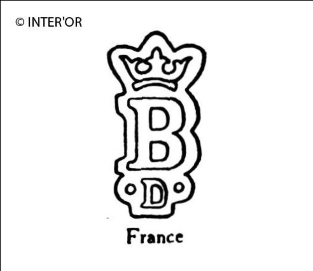 Lettre b couronnee d
