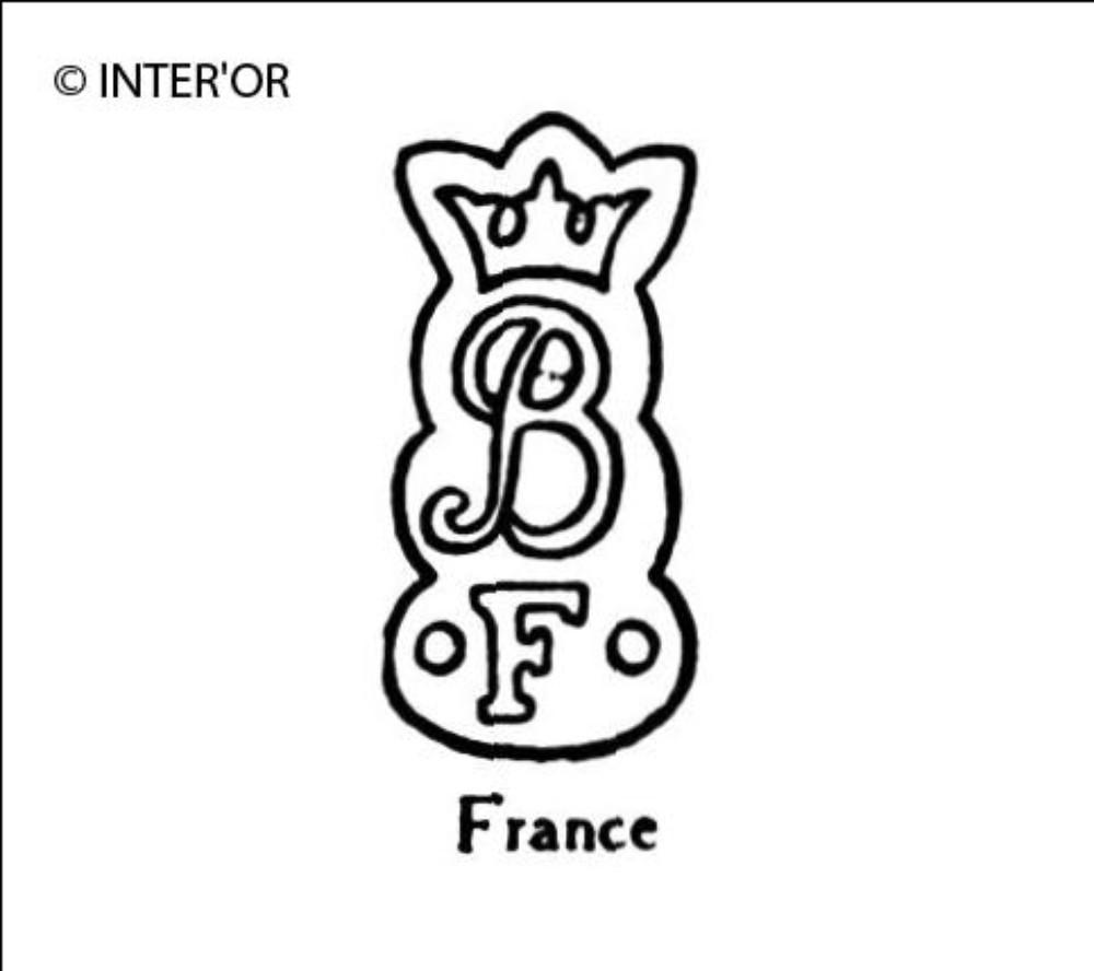Lettre b couronnee f