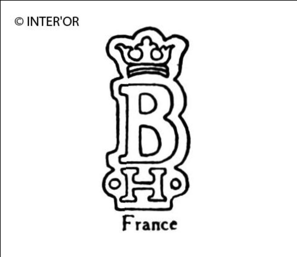 Lettre b couronnee h