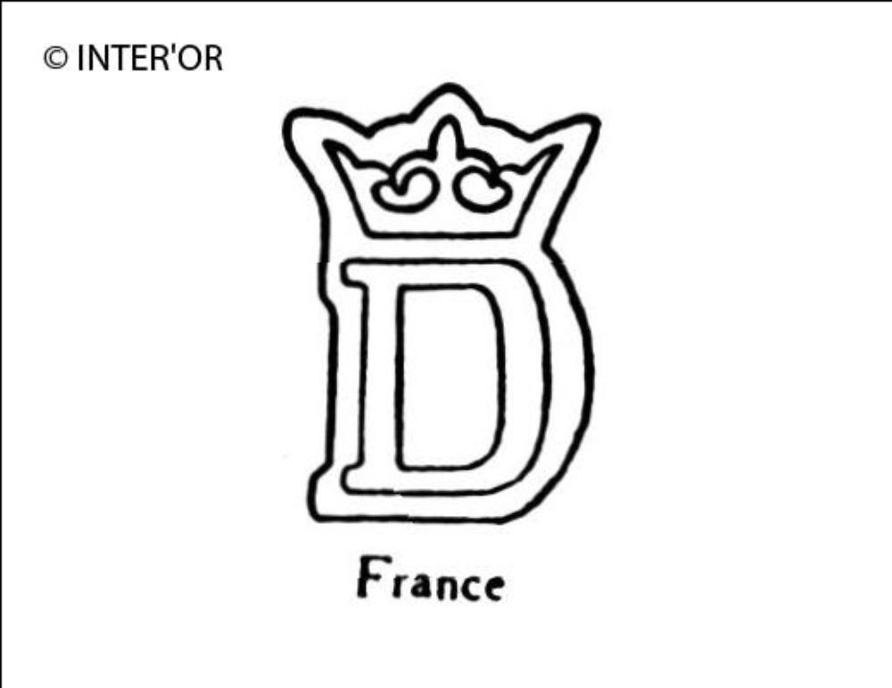 Lettre d couronnee