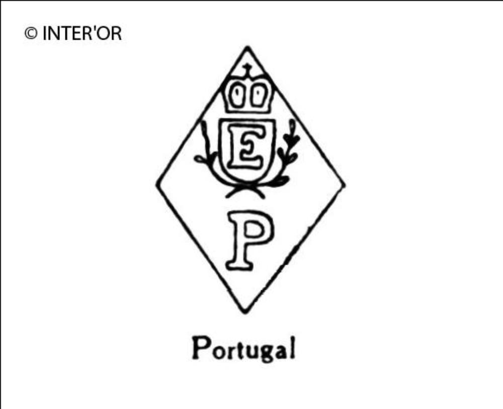 Lettre e couronnee sur p