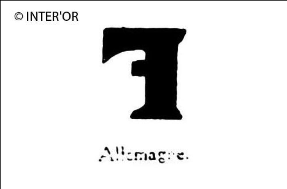Lettre f a l'envers