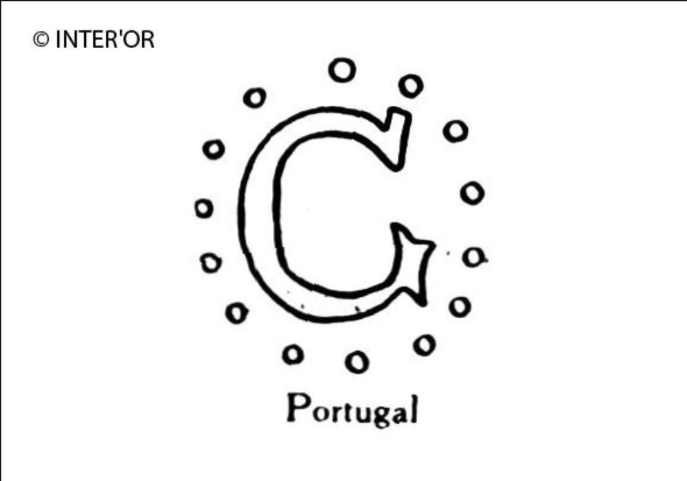 Lettre g dans une circonference pointillee