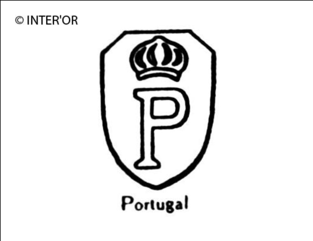 Lettre p couronnee