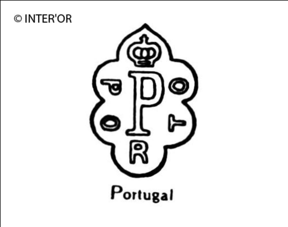 Lettre p couronnee porto