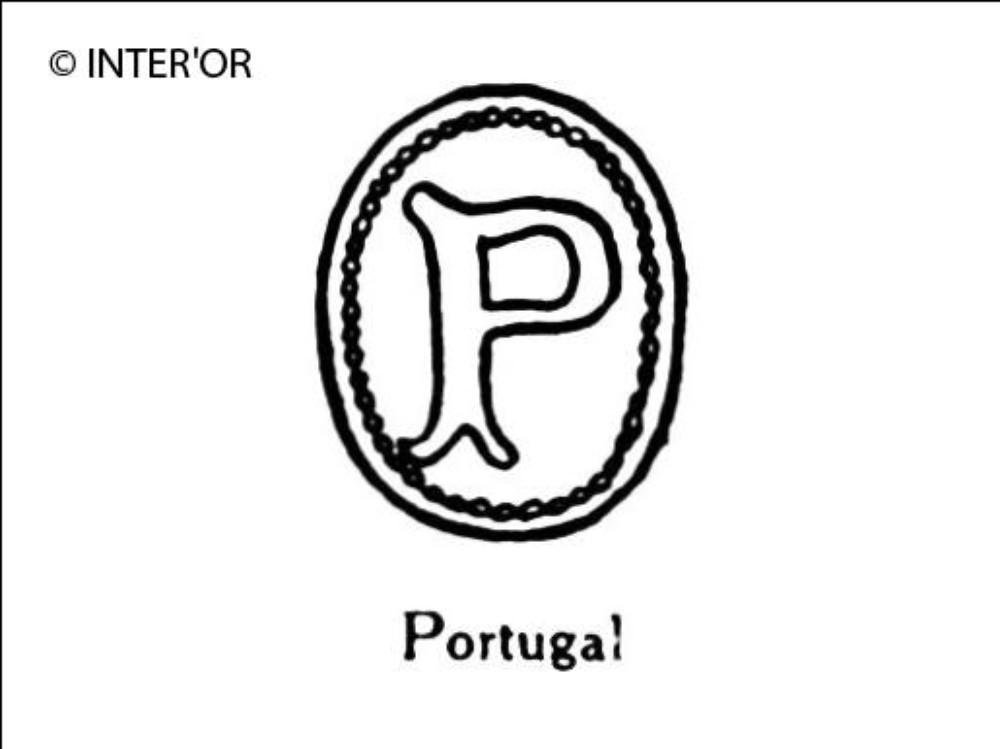 Lettre p dans un ovale