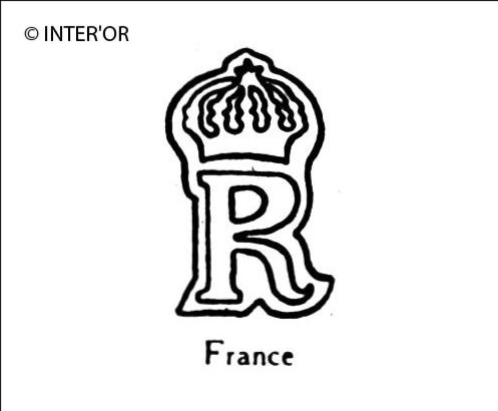 Lettre r couronnee