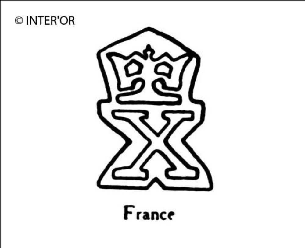 Lettre x couronnee