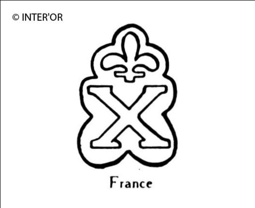 Lettre x fleurdelisee
