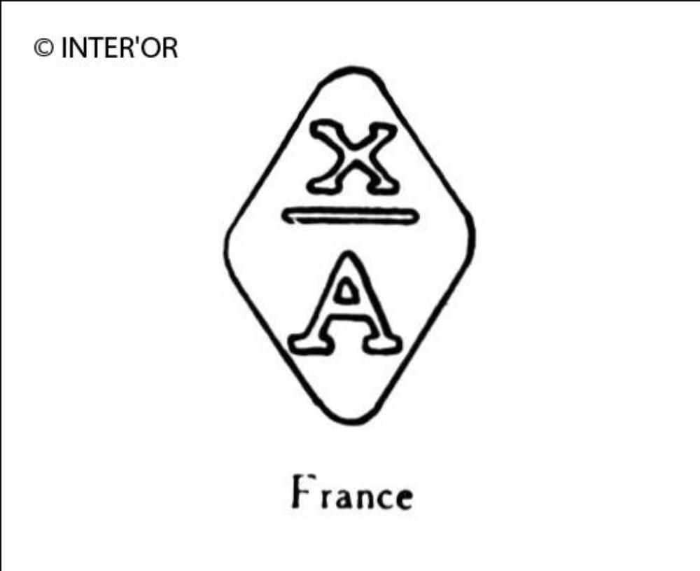 Lettre x sur a