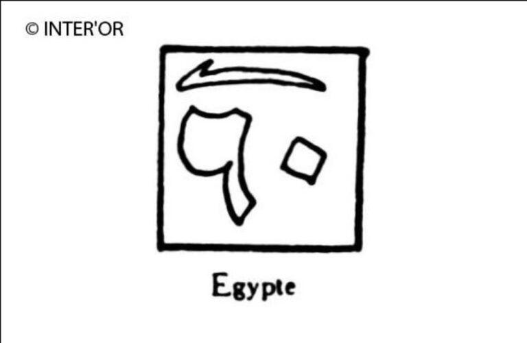 Lettres arabes dans un carre